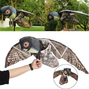 Prowler Owl Decoy Bird Pest Deterrent Scarer Scarecrow Garden Decorations