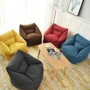 75 * 65 * 40 cm Bean Bag Cover och Wash Bag Stol inomhus för vuxna barn Multicolor Lazy Sofa