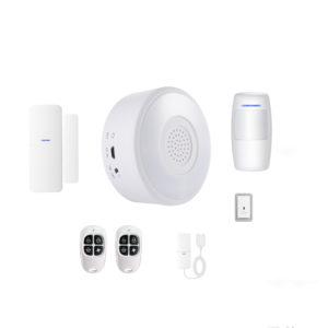 Bakeey RF433MHz 7 IN 1 WIFI DIY Smart Home Security Alarm System Kit PIR Movement Detector Door