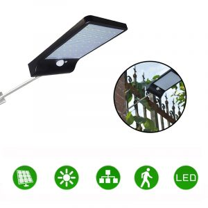 36LED Garden Solar Powered Wall Light Waterproof PIR Motion Sensor Walkway Outdoor Lamp