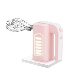 PINK BUNNY PB-8812 Kök 30W Elektrisk trådlös äggbitar Hushålls bärbar Mini Äggkräm Brödblandare