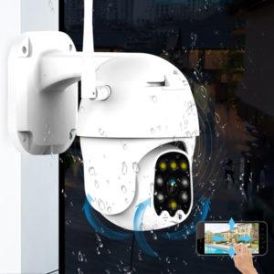 Bakeey 1080P 355° PTZ Dome IP66 Smart IP Camera Waterproof Outdoor Movement Detection Two-way Audio Alarm Monitor