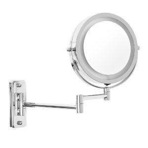 """7"""" LED Lighted Makeup Cosmetic Mirror Bathroom Flexible Floding Adjustable Wall Mounted LED Mirrors"""