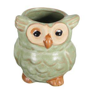 Garden Ceramic Owl Mini Flower Pot Succulent Plants Planters Office Desk Decor