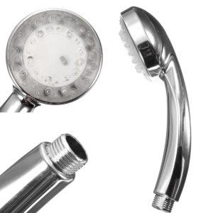 Chrome badrum handhållen ABS LED duschhuvud 7 Färgbytande glödlampa för vatten