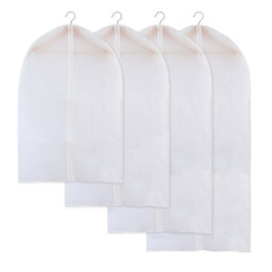 3 st plagg kläder 3 st plagg kläder täcker skydd dammtät vattentät hängande kläder täcker skydd dammtät vattentät hängande kläder förvaringsväska för rockklänning Windcoat Closet Organizer