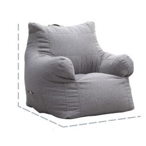 Fåtölj Bean Bag Stol Cover Multicolor Beanbag Sofa Arm Cover Indoor Lazy Sofa Portable