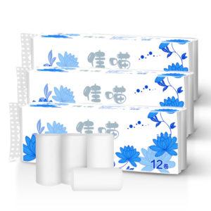 12 rullar hem toalettpapper rullar papper handdukpapper handdukar badvävnad rullar hemkök badrum toalettpapper