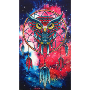5D Colorful Owl Special-shaped Drill DIY Diamond Paintings Crystal Rhinestone Kit Painting Decorations
