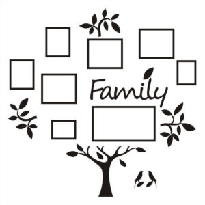 3D Family Tree Acrylic Photo Picture Collage Frame Set Wall Home Decor Xmas Gift