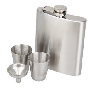 KCASA 8 Oz Stainless Steel Hip Flask Set With Funnel Hip Pocket Flagon Whiskey Brandy Vodka Pot Men Portable Liquor Flask wineBottle Great Gift For Birthday