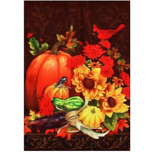 12''x18 '' Höst Pumpkin Garden Flag Elegance Fall House Halloween Banner Yard Decorations
