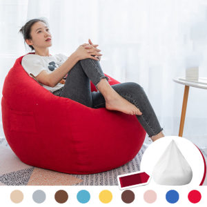 NESLOTH 100*120cm Soft Bean Bag Chairs Couch Sofa Cover Indoor Lazy Sofa For Adults