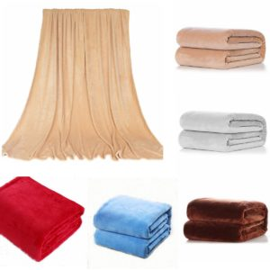 100x150 cm Coral Fleece Filt Bäddsoffa Sängkläder Varm Mjuk Täcken