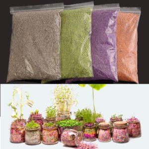 500ml Plant Flowers Micro-landscape Nutrient Soil Colorful Potting Paper Soils Garden Decorations