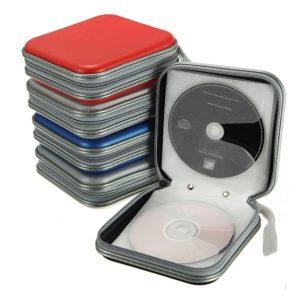 40 CD-skiva DVD-skåp för dubbelsidiga förvaringsväska Organizer Holder Hard Wallet Album CD Storage Bag