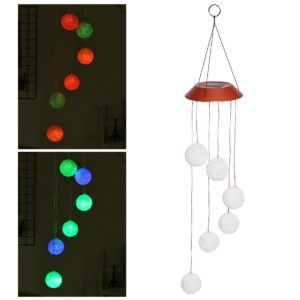 Solar Powered Color Change LED Wind Chimes Light Home Garden Home Decoration