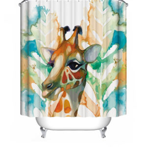 1/3/4 Pcs Giraffe Waterproof Bathroom Shower Curtain Toilet Cover Mat Nonslip Rug Set Bath accessories
