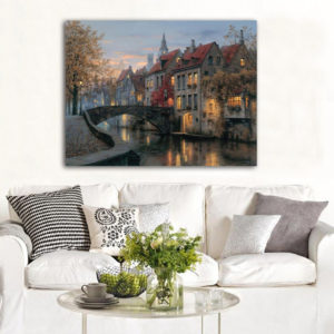 40x30cm Stadsbild Flodtryck Konstmålningar Bildaffisch Hemväggskonst