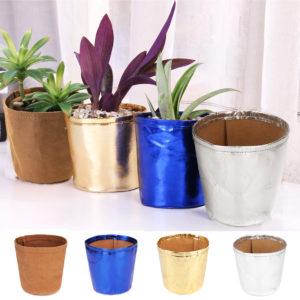 Garden Decoration 9x12cm Paper Bag Plant Flower Pots Washable Reuse Kraft Multifunction Home Storage