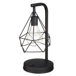 Diamond Shape PVC LED Night Light Modern Table Bedroom Home Indoor Decor Lamp