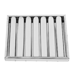 40x50x5cm Hood Baffle Grease Filter Stainless Steel Kitchen Equipment