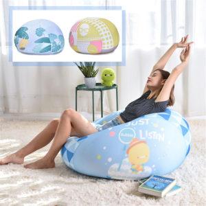 65 Diameter Bean Bag Cloth Spandex Stretch Cloth Multicolor Lazy Sofa