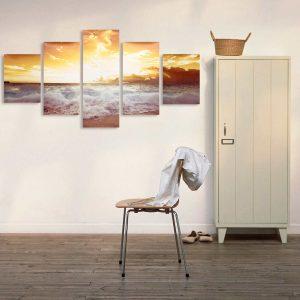 5Pcs Frameless Modern Oil Paintings Landscape Art Canvas Picture Home Wall Decor