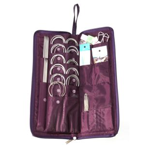 104st Stål stickade nålar Cirkulära nålar Virka Hook Kit Set Tröja Hat Weave sömmar