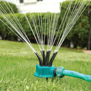 360° Sprinkler Garden Irrigation Multi-nozzle Lawn Green Roof Cooling Rotation Sprayer