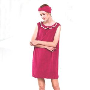 Honana BR-957 Able Wear Spa Microfiber Soft BathRobe Women Skirt Bath Towel with Bath Cap