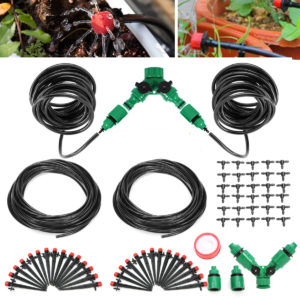 10M / 20M Drip Irrigation Lawn Spray System Dripper 360Justerbar trädgårdsslang DIY Micro Irrigation