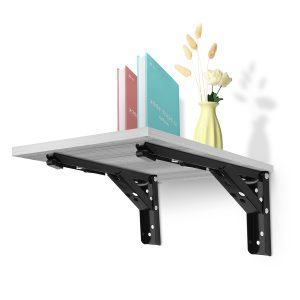 "2Pcs 12"" L-Shaped Folding Triangle Bracket Storage Table Wall Shelf Bracket Bathroom Shelf"