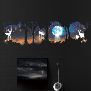 Forest Fawn Mural TV Glass Window Decoration Sticker