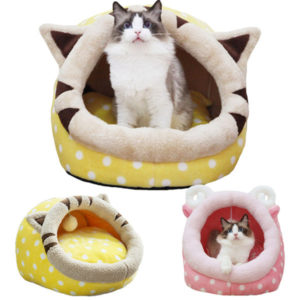 Cute Animal Design Comfortable Indoor House Bed Pet Dog Cat Nest Pad Soft Fleece Bed