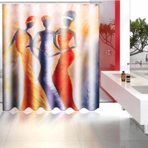 150cm / 180cm polyester vattentätt badrum med hängande duschgardiner med 12 krokar