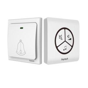 Linptech G1 Self-power Waterproof wireless Doorbell No Battery Home 25 Chime 1 Button 1/2 Receiver