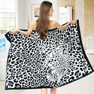 100x180cm Leopard Horses Stripe Print Absorberande Microfiber Strandhanddukar Snabbtorkad handduk