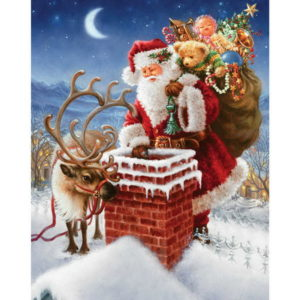 40x30 CM 5D Diamantmålning DIY Santa Father Xmas Cross Stitch Broderi