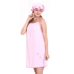 Honana BX-R980 Absorberar bad mysiga mikrofiber kvinnor kjol badhandduk badrock med badkapp