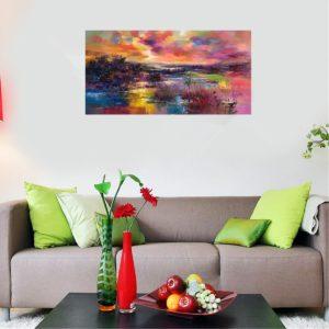 60 * 120 cm Moderna handmålade oljemålningar Abstrakt konstdekor på kanvasen inramad