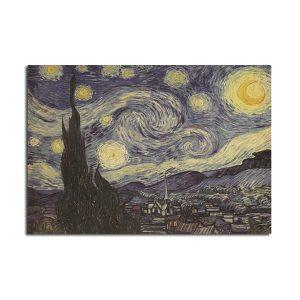 Van Gogh Star Poster Kraft Paper Wall Poster DIY Wall Art 21 inch X 14 inch