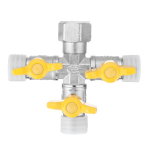 "1/2"" Garden Hose Tap Manifold Quick Connector Three Outlet 3 Way Water Splitter Valve Adapter for Washing Machine Faucet"