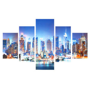 5 Panel New York City Framework Canvas Paintings For Bedroom Living Room Prints