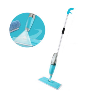 Household Flat Spray Mop Combination Wooden Floor Ceramic Tile Dry Mop Cleaning Tools with Cleaning Cloth Head
