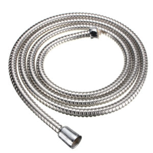 2M Long Standard Flexible Bathroom Shower Head Hose Stainless Steel Chrome Pipe
