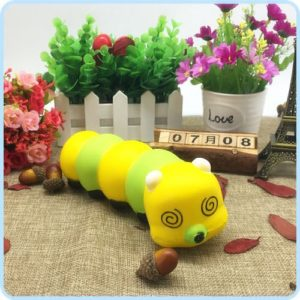 Cute Cartoon SquishsThe caterpillar Colorful Caterpillar Gift for Kids Children
