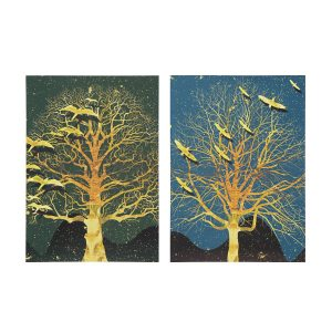 2Pcs Modern Tree Canvas Print Paintings Wall Art Unframed Picture Home Decor