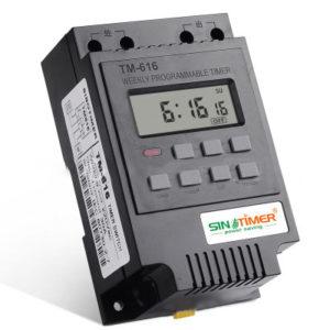 220V 110V 12V 30AMP TM616 Kontrollbelastning 7 dagars programmerbar digital TIME SWITCH Relä Timer Control