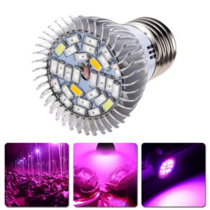 Garden Plant E27 18 28 LED Grow Light Bulb Full Spectrum Bulb Lights Indoor Plants  Greenhouse Vegetable Flower Growth